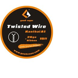 GeekVape Twisted Wire Kanthal KA1 Tape Wire (26GA + Ribbon)