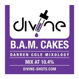 Divine  Shots -  B.A.M. Cakes-  Aroma 30ML