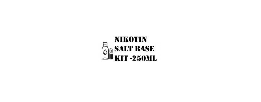 Nikotin Base & Kits | Nikotin Salt base kit - 250ml - DinDamp.dk